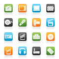 Media and technology icons vector icon set Royalty Free Stock Photo