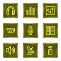 Media web icons, electronics card series Royalty Free Stock Photo