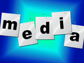 Media Word Means Radios News And Radio Royalty Free Stock Photo