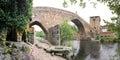 Mediaeval bridge of ucanha portugal panoramic view the old ponte de Stock Photo