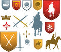 Mediaeval icons and emblems Royalty Free Stock Photo