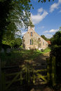 Mediaeval village church a in the uk Stock Photos