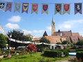 Medias city center of a medieval in transylvania Royalty Free Stock Photos