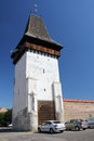 Medias medieval wall the old of mediaÈ™ is the second largest city in sibiu county transylvania romania Royalty Free Stock Photo