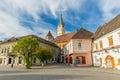 Medias transylvania afternoon in downtown romania Royalty Free Stock Image