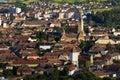 Medias transylvania medieval burg panoramic view Stock Images