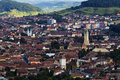 Medias transylvania medieval burg panoramic view Royalty Free Stock Image