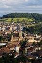 Medias transylvania medieval burg in summer Royalty Free Stock Photo