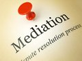 Mediation on a printed page the word Royalty Free Stock Photo