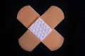 Medical adhesive bandage on black background Stock Image