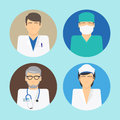 Medical avatars set Royalty Free Stock Photo