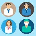 Medical avatars set vector Royalty Free Stock Photo