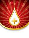 Medical background with blood drop and cross Royalty Free Stock Photo