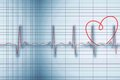 Medical background with red ecg line digitally generated Royalty Free Stock Image