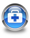 Medical bag icon glossy blue round button Royalty Free Stock Photo