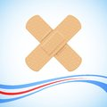 Medical bandage cross illustration of forming on abstract background Royalty Free Stock Photo