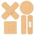 Medical bandage illustration of in different shape Royalty Free Stock Image