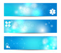 Medical banners three suitable for topics Royalty Free Stock Images