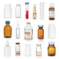 Medical bottles and ampules collection Royalty Free Stock Photo