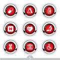 Medical button series Stock Photo