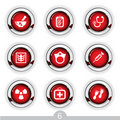 Medical button series Stock Photography