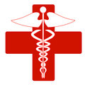 Medical caduceus Stock Image