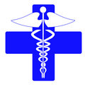 Medical caduceus charm Stock Photography