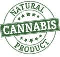 Medical cannabis round stamp