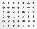 Medical center silhouettes icons set