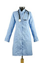 Medical coat and stethoscope isolated Royalty Free Stock Photos