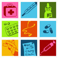 Medical color icons Stock Photos