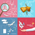 Medical concept dentistry surgery transplantation pharmaceutics technology drug pills vector icons Royalty Free Stock Images