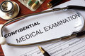 Medical confidentiality concept. Royalty Free Stock Photo