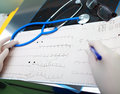 Medical diagnostic tools in the doctor office Royalty Free Stock Photo