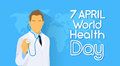 Medical Doctor Hold Stethoscope Over World Map Health Day Royalty Free Stock Photo