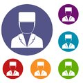 Medical doctor icons set Royalty Free Stock Photo