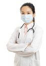 Medical doctor woman isolated on white background the Royalty Free Stock Photos