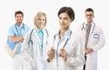 Medical Doctors On White Backg...