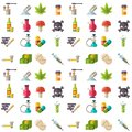 Medical drugs icon seamless pattern background vector laboratory science alcohol clinic medication web ambulance sign Royalty Free Stock Photo