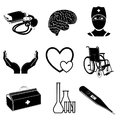 Medical elements vector icons of Royalty Free Stock Photos
