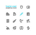 Medical Equipment - line icons set