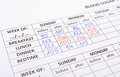 Medical forms for diabetes Royalty Free Stock Photo