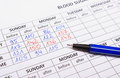 Medical forms and pen for diabetes Royalty Free Stock Photo