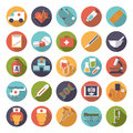 Medical and Health Care Flat Design Vector Icons Collection Royalty Free Stock Photo