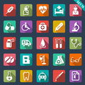 Medical and health care icons set of Stock Photo