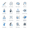 Medical & Health Care Icons Set 2 - Specialties Royalty Free Stock Photo