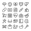 Medical, Health and Hospital Line Vector Icons 5