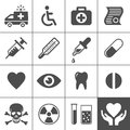Medical and health icon set simplus series vector illustration Stock Photo