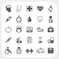 Medical and health icons set eps don t use transparency Stock Images