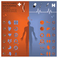Medical and health infographic infochart design template Royalty Free Stock Images